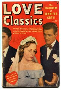 LOVE CLASSICS #1 comic book 1949-PHOTO COVER-TIMELY-MARVEL VG