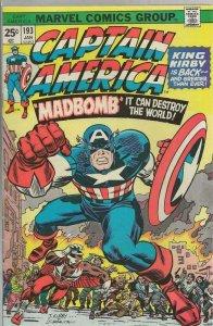Captain America #193 ORIGINAL Vintage 1976 Marvel Comics Jack Kirby Returns