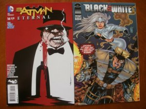 2 Comic: DC New 52 BATMAN ETERNAL #14 (2014) + Image BLACK & WHITE #1 (1994)