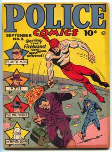 Police Comics #2 1941- FIREBRAND- Plastic Man- Phantom Lady