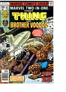 Marvel Two-In-One 41 F/VF   Brother Voodoo!