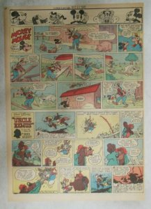 Mickey Mouse Sunday Page by Walt Disney from 10/21/1945 Tabloid Page Size
