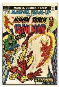 Marvel Team-Up #29 1975-HUMAN TORCH - IRON MAN NM-