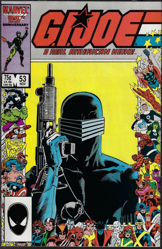 GI Joe, A Real American Hero #53 (Marvel, 1986) NM - 25th Anniversary