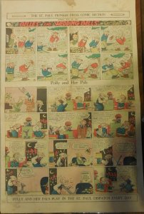 Polly and Her Pals Sunday by Cliff Sterrett from 7/12/1931 Full Page Size !