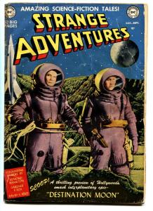 STRANGE ADVENTURES #1-1950-1st DC SCI FI-DESTINATION MOON & CHRIS KL99 g/vg
