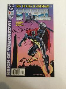 Steel 1 NM Signed By C. Batista, J. Bogdanove, R. Faber, L. Simonson With C.O.A.