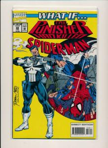 MARVEL What If... THE PUNISHER killed SPIDER-MAN #58 VF+ (PF669)