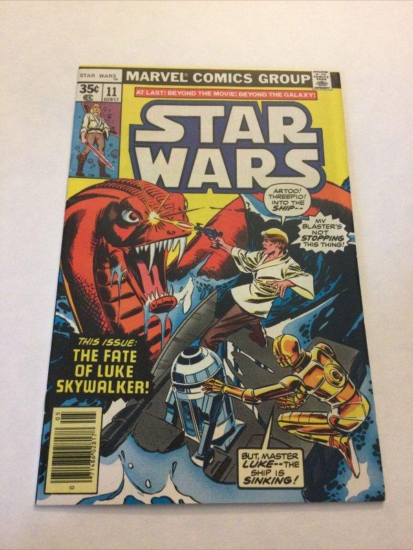 Star Wars 11 Vf+ Very Fine+ 8.5 Newsstand Edition Marvel Comics