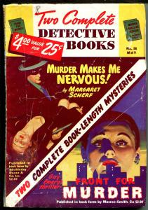 TWO COMPLETE DETECTIVE BOOKS 05/1949-G. GROSS GOOD GIRL ART-PULP-CRIME-good/vg