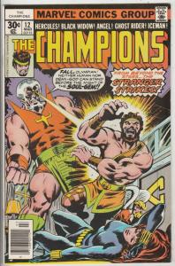 Champions, The #12 (Nov-76) NM Super-High-Grade Ghost Rider, Hercules, Black ...