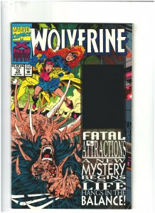Wolverine #75 VF/NM 9.0 Marvel Comics 1993 Hologram Cover, X-Men app.