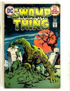 Swamp Thing # 13 VG DC Comic Book Horror Fear BERNI WRIGHTSON J371