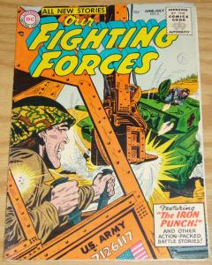 Our Fighting Forces #5 VG/FN july 1955 - golden age dc comics war - iron punch