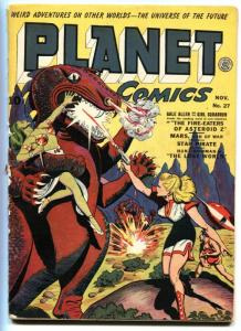 Planet #27 -1943-Fiction House-Good Girl art-Golden-Age Comic book
