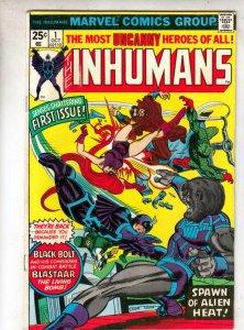 Inhumans, The #1 (Oct-75) FN/VF High-Grade Black Bolt, Gorgon, Triton, Karnak...