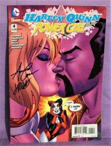 Amanda Conner HARLEY QUINN POWER GIRL #4 Jimmy Palmiotti Autographed (DC, 2015)!