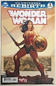 WONDER WOMAN#1 NM 2016 DC UNIVERSE REBIRTH COMICS