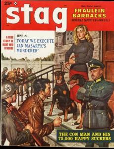 STAG 1959 FEB-JAMES BAMA-FRAULEIN NAZI CVR-WILD ISSUE- FN