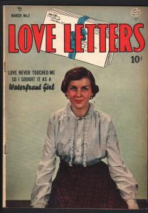 LOVE LETTERS #3-1950-GUSTAVSON ART-PHOTO COVER-FN plus FN+