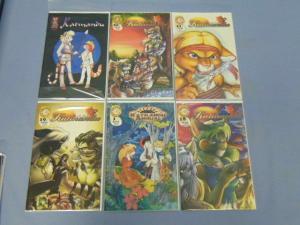 Six Rare Katmandu Carole Curtis Shanda Fantasy Furry Comics Books Annual & 18-21