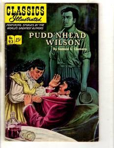 Classics Illustrated # 93 VG/FN HRN #94 Gilberton Comic Book Pudd'Nhead Wil JL26