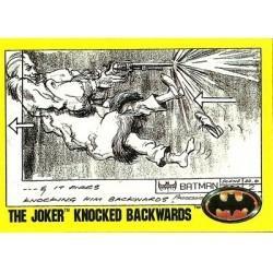 1989 Batman The Movie Series 2 Topps THE JOKER KNOCKED BACKWARDS #204