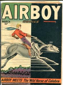 AIRBOY COMICS V.5 #2-GREAT COVER-golden age-L@@k! G