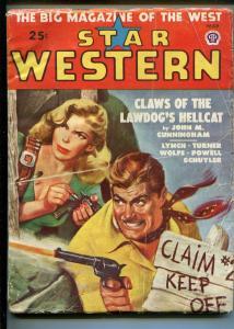 STAR WESTERN 3/1949-PULP THRILLS-TALMAGE POWELL-TURNER-VIOLENCE-GUNFIGHTS-vg-