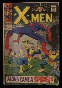 X-Men #35 GD+ 2.5 Spider-Man! 1st Changeling! Marvel Comics