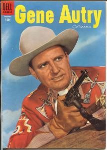 Gene Autry #96 1955 -Dell-photo cover-B-Movie western film star-VF