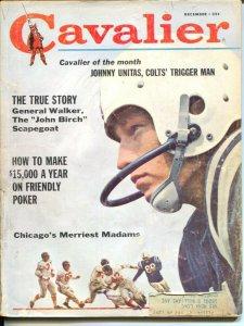 Cavalier 12/1961-Fawcett-Johnny Unitas-Baltimore Colts-NFL photo cover-VG-