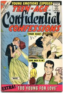 Teen-Age Confidential Confessions #1 1960- Charlton Romance- Too Young for Love