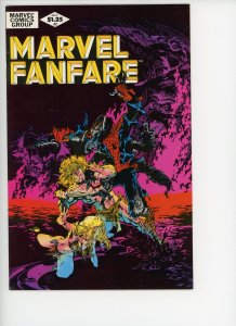 Marvel Fanfare 2 F/VF Michael Golden Cover & Art