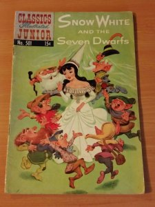 Classics Illustrated Junior #501 - Snow White and the Seven Dwarfs ~ FINE FN ~