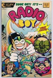 Radio Boy #1 ORIGINAL Vintage 1987 Eclipse Comics