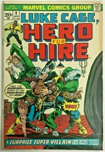 LUKE CAGE, HERO FOR HIRE#8 FN 1973 MARVEL BRONZE AGE COMICS