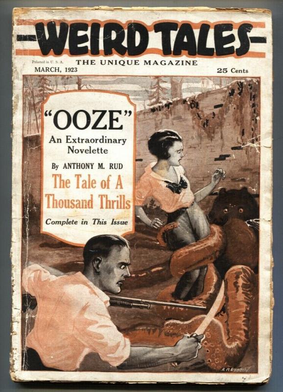 Weird Tales #1 March 1923-Rare 1st issue-SUPER RARE-Pulp Magazine