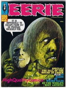 EERIE #20, FN+, Warren, Fall of the House of Usher, 1969, more mags in store