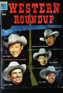 Dell Giant Comics: Western Roundup #8, VG- (Actual scan)