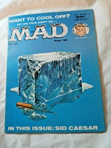 VINTAGE MAD MAGAZINE # 49 SEPTEMBER 1959  SID CAESAR, WANT TO COOL OFF VG+