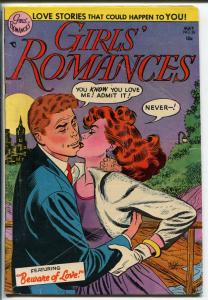 GIRLS' ROMANCES #26 1953-DC-SPICY ISSUE-GLOSSY-vg/fn