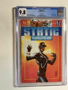 Static 1 Cgc 9.8 Collectors Edition W/ Card + Poster Variant Dc Comics Milestone