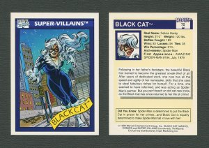 1990 Marvel Comics Card  #72 (Black Cat) / MINT