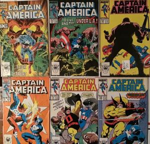 CAPTAIN AMERICA 1985 (MARVEL)#326-331.6 BOOK LOT.