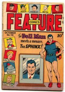 Feature Comics #115 1947- DOLL MAN- Sphinx VG/F