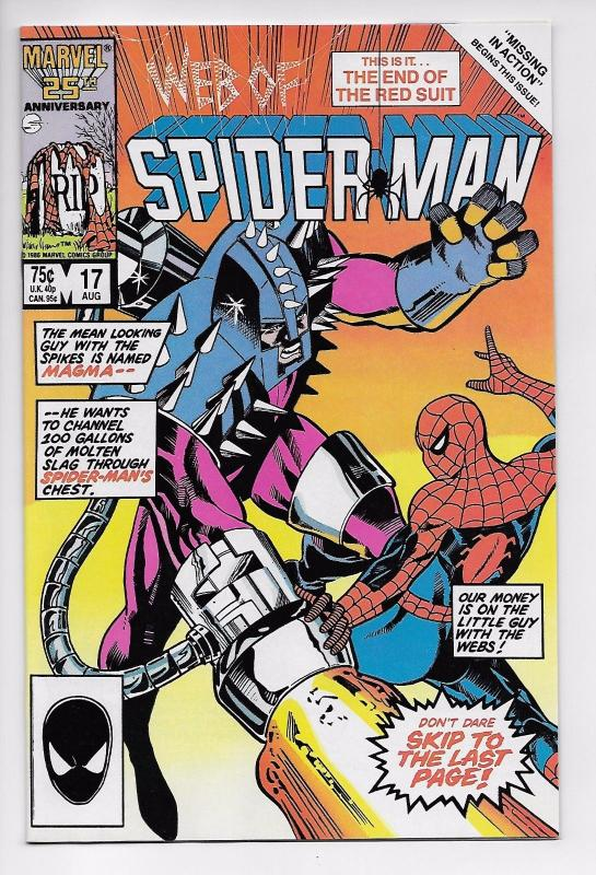 Web of Spider-Man #17 - Magma / Marc Silvestri (Marvel, 1986) - NM