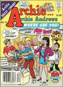 Archie…Archie Andrews, Where Are You? Digest Magazine #74 VF/NM; Archie | save o