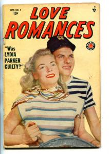 LOVE ROMANCES #8-1949-MARVEL-TIMELY-JOE KUBERT-SPICY-GOOD GIRL ART-good