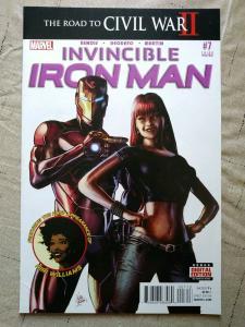 INVINCIBLE IRON MAN #7 3RD PRINT MARVEL COMICS 2016 1st RIRI WILLIAMS MARY JANE